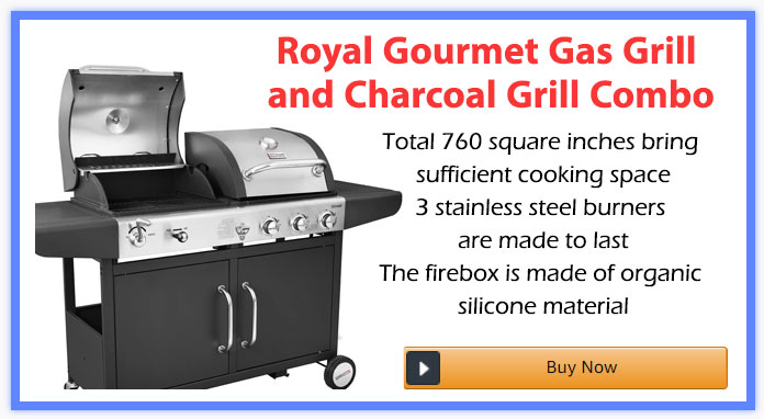 Royal Gourmet Gas Grill and Charcoal Grill Combo